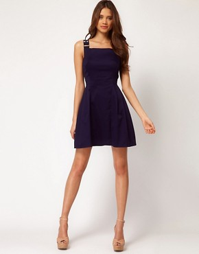 Image 4 of ASOS Pinafore Dress With Buckles