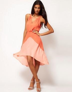Image 1 of Glamorous Colour Block Chiffon Dress