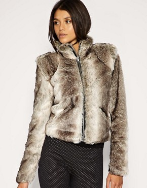 Image 1 of Vila Faux Fur Coat