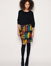 ASOS AFRICA Printed Pencil Skirt