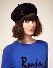 Juicy Couture Furry Beret Hat