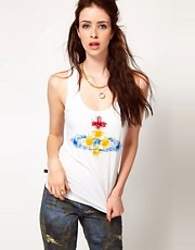 Vivienne Westwood Anglomania For Lee Saturday Vest WIth Flocked Orb