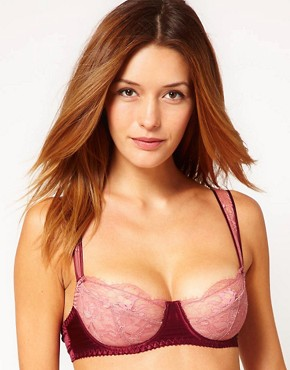 Fleur Of England Berry Kiss Lace Balcony Bra