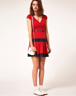 Image 4 ofA|Wear Dress With Pleated Skirt