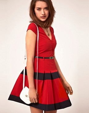 Image 1 of A|Wear Dress With Pleated Skirt