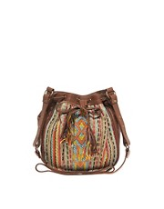 Warehouse Leather Aztec Bag