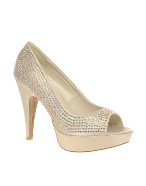 Image 1 of Carvela Guess Diamante Peep Toe Heeled Shoe