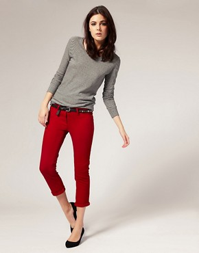 Image 1 of River Island Red Super Skinny Jeans