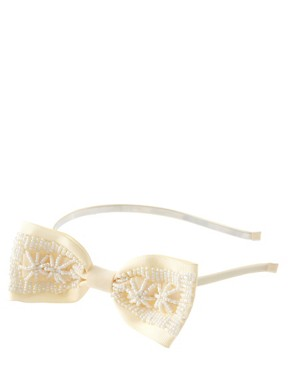 Image 2 ofLipsy Pearl Embellished Bow Hair Band