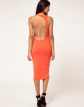 Aqua Starbright Asymmetric Open Back Midi Dress