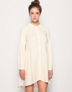 Image 1 of ASOS Button Through Drop Waist Shirt Dress