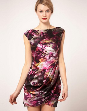 Karen Millen Smudge Print Dress - £140.00
