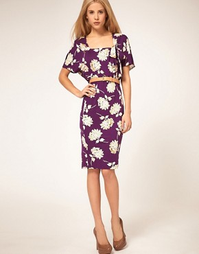 Image 1 of ASOS Tea Dress in 40s Floral Print