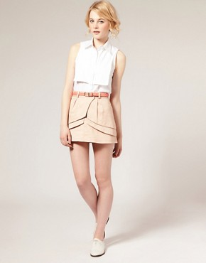 Image 1 of ASOS Layered Fold Mini Skirt