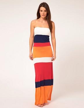 river island, asos, maxi dress, colour blocking, bandeau