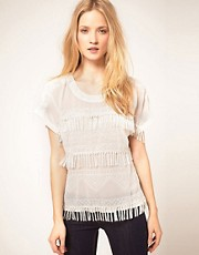French Connection Square Top With Fringe Detail