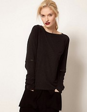 BACK by Ann-Sofie Back Zip Long Sleeve Top
