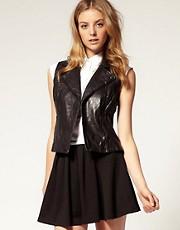 ASOS Sleeveless Leather Biker Jacket