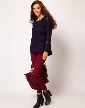 Image 1 ofRiver Island Molly Jegging In Berry Denim