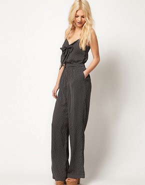 Image 1 of Mango Polka Dot Jumpsuit