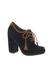 ASOS STRICTLY Lace Up Block Heel Shoes