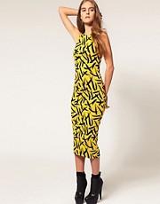 ASOS Bodycon Dress With Brushstroke Print