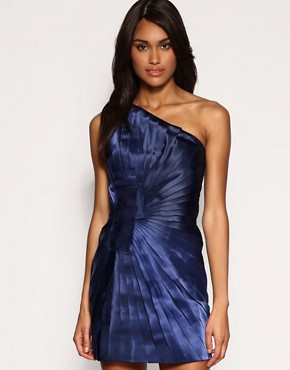 Image 1 ofASOS PREMIUM Pleated One Shoulder Dress