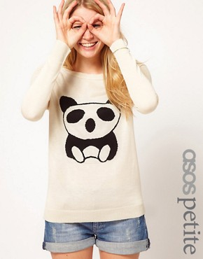 Image 1 ofASOS PETITE Exclusive Panda Jumper