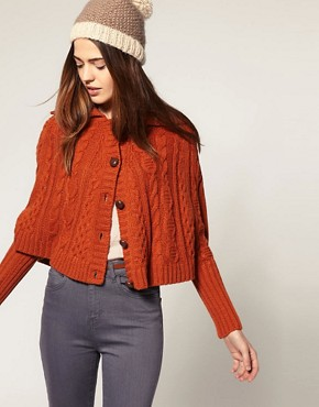 Image 1 of ASOS Aran Swing Cardigan