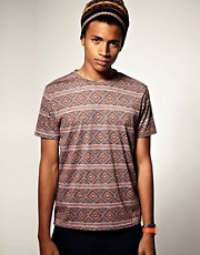 ASOS T-shirt With All Over Aztec Print