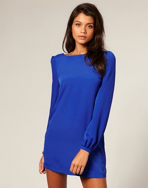Image 1 of ASOS Bell Sleeve Shift Dress