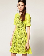 ASOS Lace Dress with Full Skirt