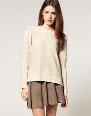 ASOS Cable Jumper With Slash Neck