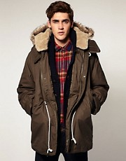 Plectrum By Ben Sherman Luxury Down Filled Military Parka