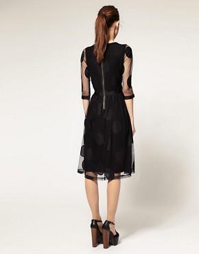 Image 2 ofASOS Midi Dress in Mesh Spot