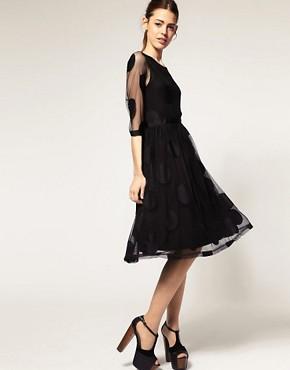 Image 4 ofASOS Midi Dress in Mesh Spot
