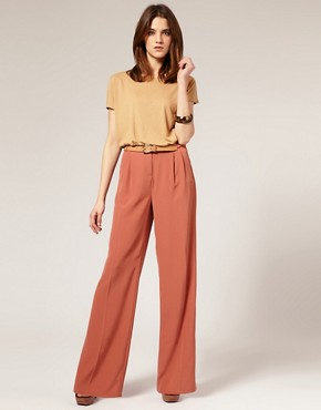 Image 1 ofASOS Tailored Palazzo Suit Trousers