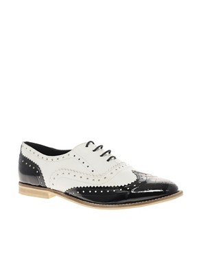 Image 1 of ASOS MARKY Mono Leather Lace Up Brogue