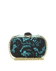 ASOS Lace Crochet Hard Case Clutch