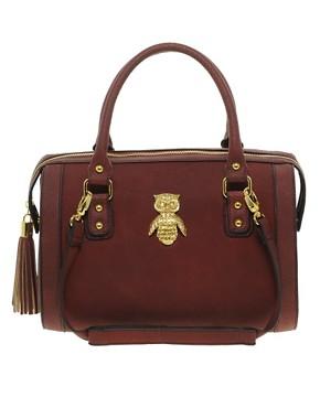 Image 1 ofASOS Owl Tassel Bowler Bag
