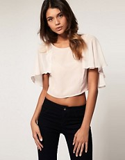 ASOS Cropped Cape Top