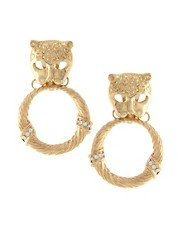 ASOS Earrings Statement Lion Door Knocker with Oversized Hoop