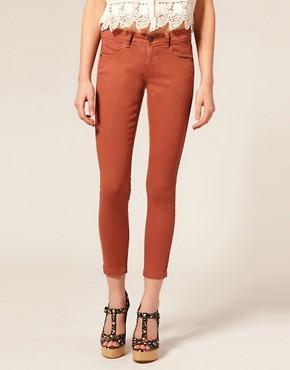 Image 1 ofASOS Rust Skinny Capri Jeans