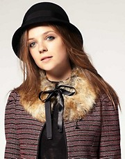 ASOS Fantasy Fur Pointed Collar