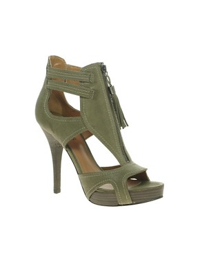 Image 1 of Guess GW Amel Zip Front Tassel Sandals