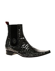 Jeffery West Muse Hi-Shine Animal Chelsea Boots