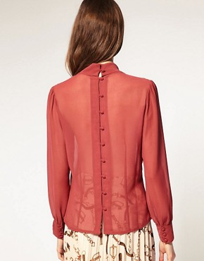 Image 2 ofASOS Georgette Pussybow Blouse