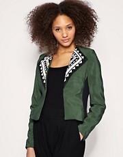 ASOS AFRICA Beaded Collar Jacket