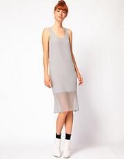 Richard Nicoll Midi Dress with Georgette Panel