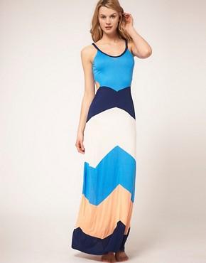 River Island, maxi dress, cu-out, color blocking, ASOS